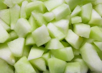Honigmelonenwürfel